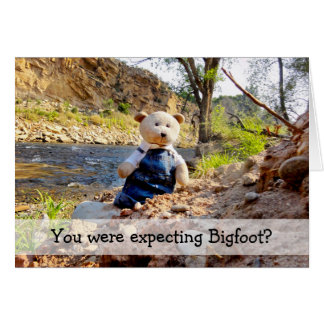 YOU WERE EXPECTING BIGFOOT? 3 CARD