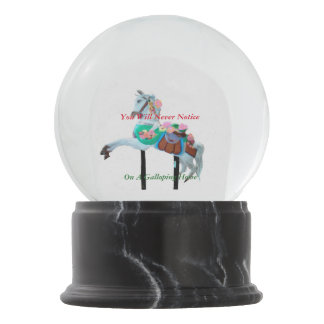 YOU WILL NEVER NOTICE CAROUSEL HORSE SNOW GLOBE SNOW GLOBES