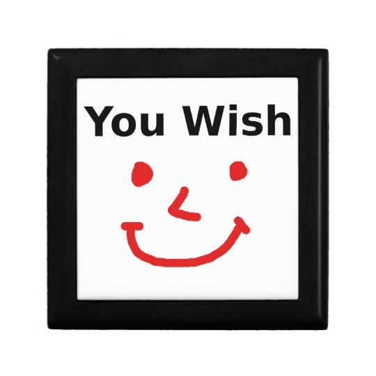 """You Wish"" With Red Smiley Face Gift Box"