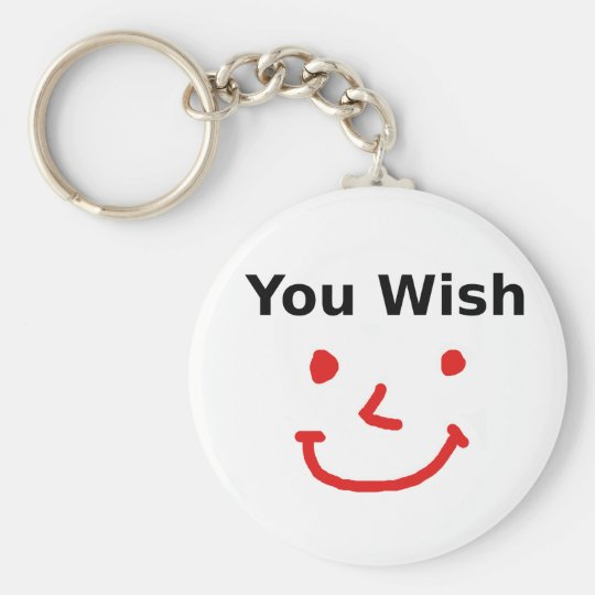 """""""You Wish"""" With Red Smiley Face Key Ring"""