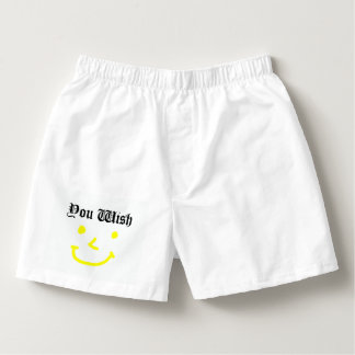 You Wish With Smiley Face Boxers