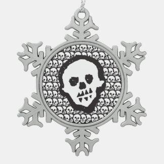 Youdo voodoo skulls pewter pewter snowflake decoration