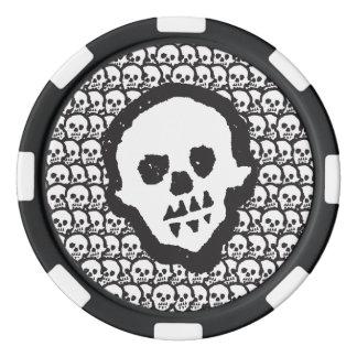Youdo voodoo skulls poker chips