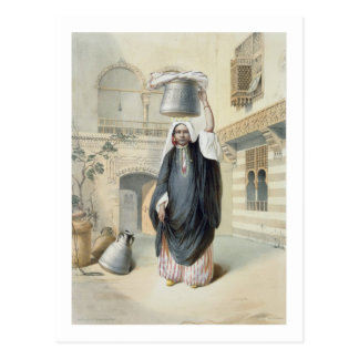 Young Arab Girl Returning from the Hammam in Cairo Postcard