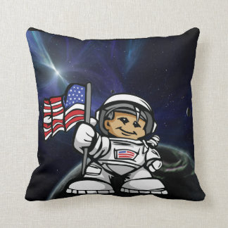 Young Astronaut in space Cushion
