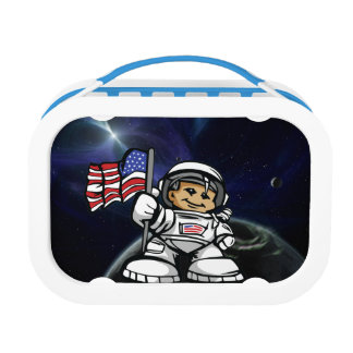Young Astronaut in space Lunch Box