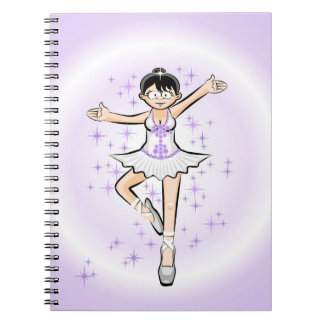Young ballet shoe of Ballet dances with glamor Notebook