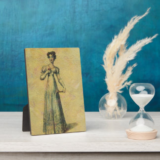 Young Beautiful Vintage Woman Painting Plaques
