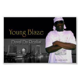 young-blaze1, slic mouf records - Customized Poster