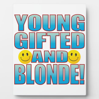 Young Blonde Life B Photo Plaque