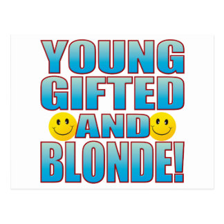 Young Blonde Life B Postcard