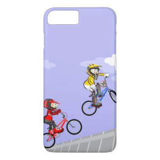 Young BMX cycling competing by the best jump iPhone 8 Plus/7 Plus Case