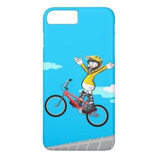 Young BMX gives a jump with the extended arms iPhone 8 Plus/7 Plus Case