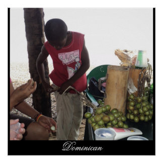 Young Boy selling his goods in Najayo Beach, DR Poster