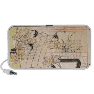 Young Boys Performing Puppet Show Kitao Shigemasa PC Speakers