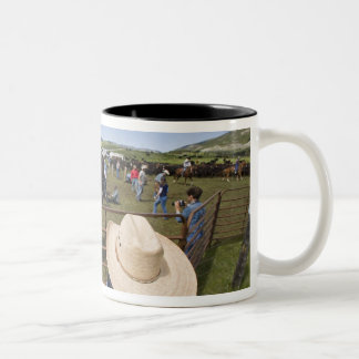 Young boys take in the 2007 Hughes Ranch Two-Tone Mug