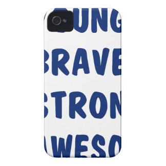 Young brave strong awesome iPhone 4 cases