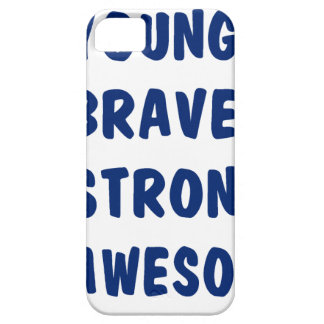 Young brave strong awesome iPhone 5 case