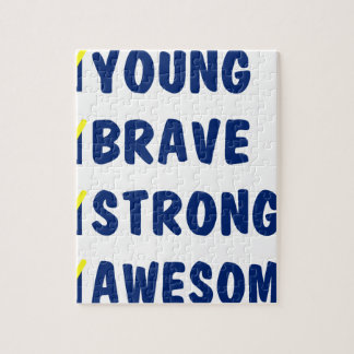 Young brave strong awesome jigsaw puzzle