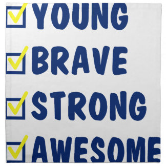 Young brave strong awesome napkin