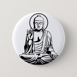 Young Buddha No.1 (black) 6 Cm Round Badge