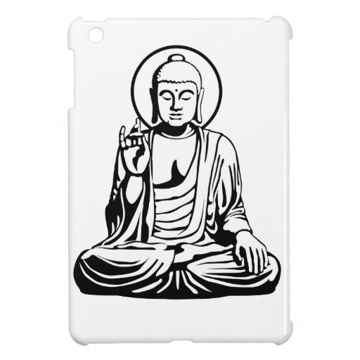 Young Buddha No.1 (black white) iPad Mini Cover