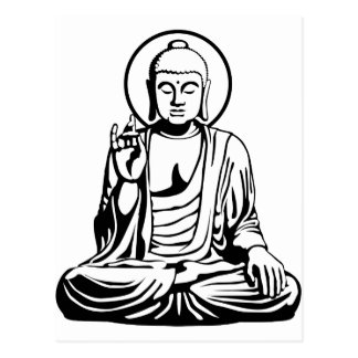 Young Buddha No.1 (black white) Postcard