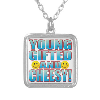 Young Cheesy Life B Silver Plated Necklace