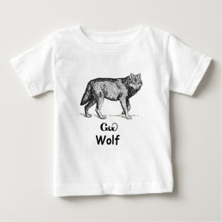 Young Cherokee Wolf Baby T-Shirt