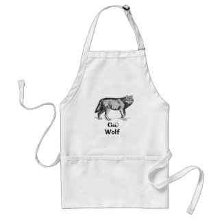 Young Cherokee Wolf Standard Apron