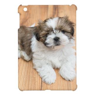 Young Chi Chu dog lying on parquet floor iPad Mini Case