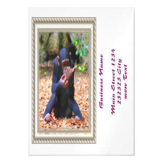 young chimpanzee 03 magnetic invitations