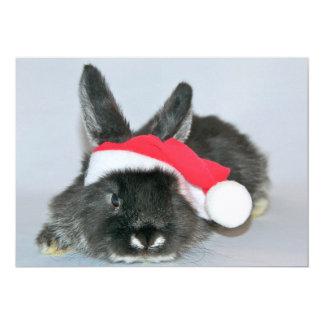 Young christmas rabbit 13 cm x 18 cm invitation card