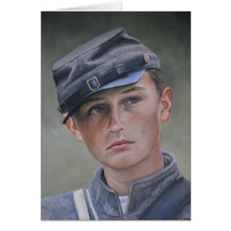 Young Civil War Soldier Portrait Art Greeting Card