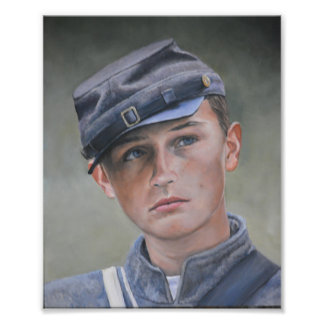 Young Civil War Soldier Portrait Art Photo Print