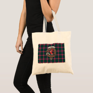 Young Clan Badge Tartan Tote