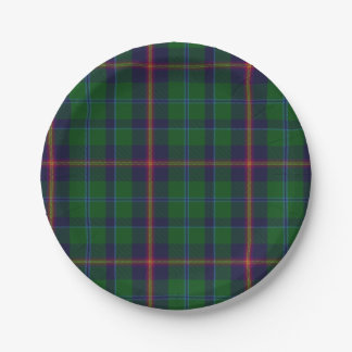 Young Clan Tartan Plaid Paper Plate
