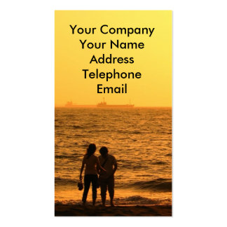 Young Couple at the Beach Double-Sided Standard Business Cards (Pack Of 100)
