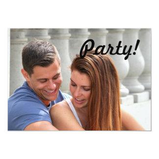 Young Couple Bridge 13 Cm X 18 Cm Invitation Card