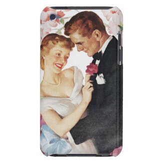 Young couple in formal wear barely there iPod cover