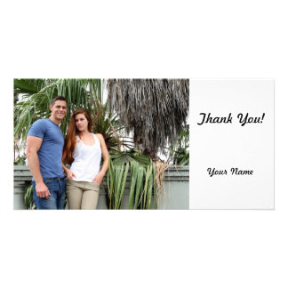 Young Couple Palm Tree Personalised Photo Card