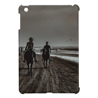 Young Couple Riding Horses at the Beach iPad Mini Covers