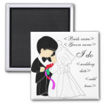 Young Couple Square Magnet