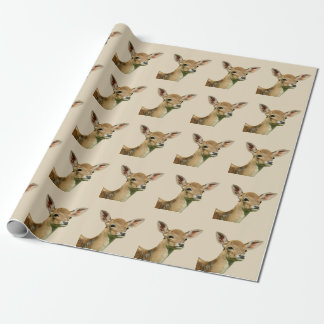 Young deer wrapping paper