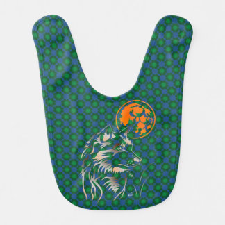 young dreaming wolf baby bibs