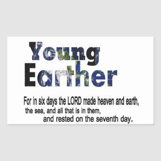 Young Earther Rectangular Stickers