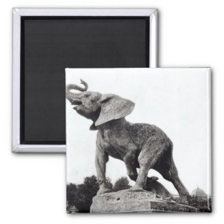 Young Elephant Caught in a Trap Fridge Magnet