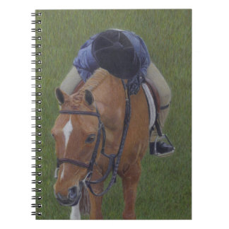 Young Equestrian Rider and Pony Spiral Notebook
