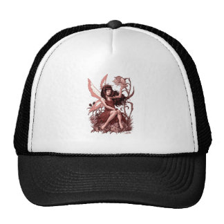 Young Fairy with Flowers by Al Rio Mesh Hat