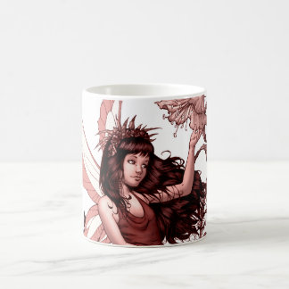 Young Fairy with Flowers by Al Rio Mug